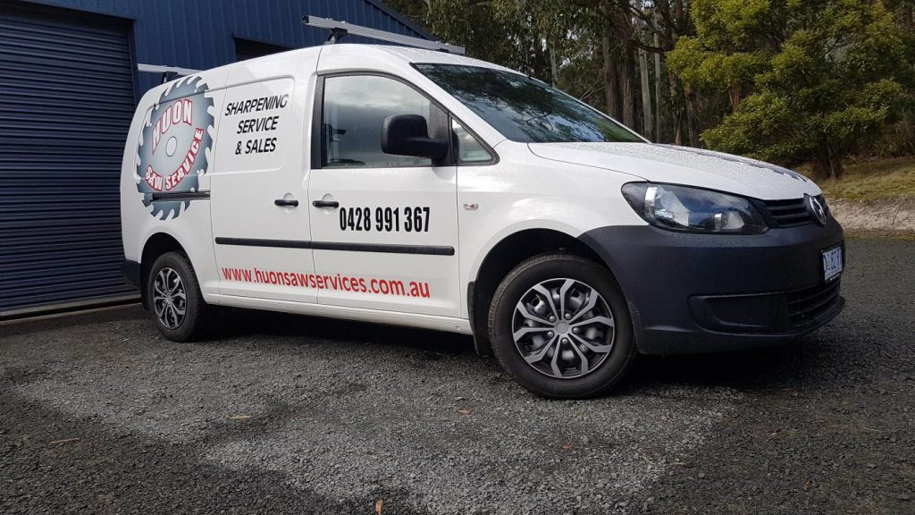 Huon Saw Service free delivery van